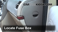 Interior Fuse Box Location: 2005-2007 Buick Terraza - 2005 ...