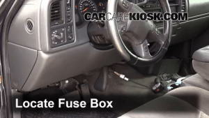 Interior Fuse Box Location: 19992007 GMC Sierra 2500 HD  2004 GMC Sierra 2500 HD 60L V8