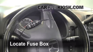 Interior Fuse Box Location: 20022006 Honda CRV  2006 Honda CRV SE 24L 4 Cyl