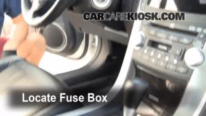 Interior Fuse Box Location: 20042008 Acura TL  2007 Acura TL 32L V6