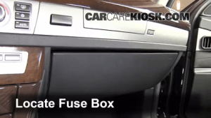 Interior Fuse Box Location: 20022008 BMW 745i  2004 BMW