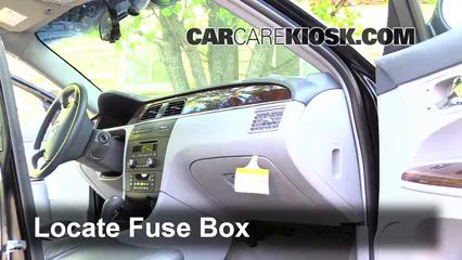 2010 Buick Enclave Fuse Box Interior Fuse Box Location 2005 2009 Buick Lacrosse