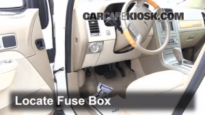 Interior Fuse Box Location: 20072015 Lincoln MKX  2007 Lincoln MKX 35L V6