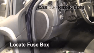 Interior Fuse Box Location: 20072013 Chevrolet Silverado 1500  2008 Chevrolet Silverado 1500