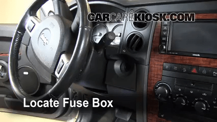 2015 Dodge Ram 2500 Fuse Box Diagram Interior Fuse Box Location 2006 2010 Jeep Commander