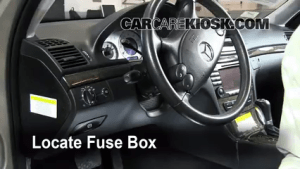Interior Fuse Box Location: 20032009 MercedesBenz E320  2009 MercedesBenz E320 Bluetec 30L