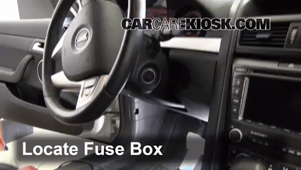 Interior Fuse Box Location 2008 2009 Pontiac G8 And Wiring