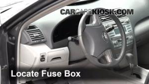 Interior Fuse Box Location: 20072011 Toyota Camry  2009 Toyota Camry Hybrid 24L 4 Cyl