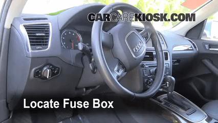 audi a3 fuse box diagram wiring for split ac unit interior location 2009 2017 q5 2010 premium locate and remove cover