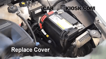 2008 chevy malibu fuse diagram trailer rear light wiring battery replacement 2012 chevrolet 2010 9 replace cover ensure the is put back properly