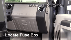 Interior Fuse Box Location: 20082016 Ford F350 Super Duty  2008 Ford F350 Super Duty XL 64L