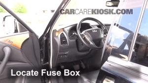 Interior Fuse Box Location: 20112013 Infiniti QX56  2011