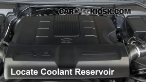 How to Add Coolant: Land Rover LR4 (20102016)  2011 Land Rover LR4 HSE 50L V8
