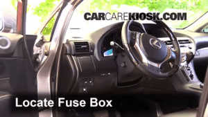 Interior Fuse Box Location: 20102015 Lexus RX350  2014 Lexus RX350 35L V6