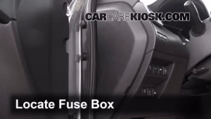 Interior Fuse Box Location: 20142017 Nissan Rogue  2014