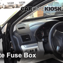 2016 Subaru Wrx Radio Wiring Diagram Ezgo Txt 36 Volt Battery Interior Fuse Box Location 2013 2018 Xv Crosstrek 2014 2 Remove Cover Locate And