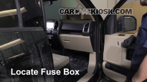 Interior Fuse Box Location: 20152019 Ford F150  2015 Ford F150 XLT 35L V6 Turbo Crew Cab Pickup