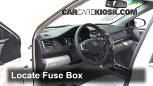 Interior Fuse Box Location: 20152017 Toyota Camry  2015 Toyota Camry XLE 25L 4 Cyl