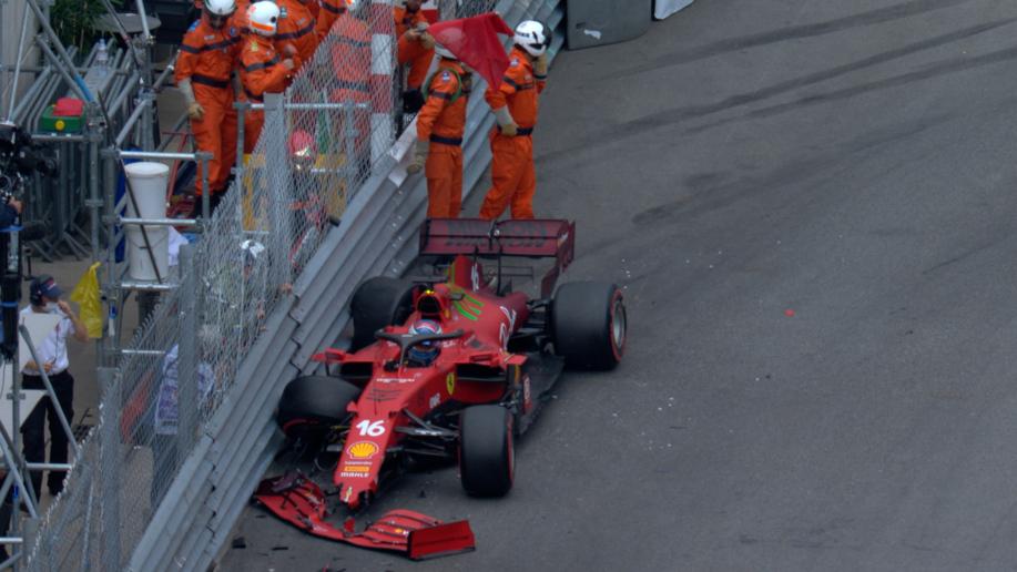 Monaco Grand Prix: Leclerc on pole position despite crash