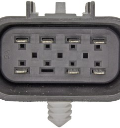 transfer case motor rectangular plug w 7 pins dorman 600 908 [ 1500 x 1216 Pixel ]