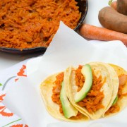 sweet potato and carrot tinga tacos