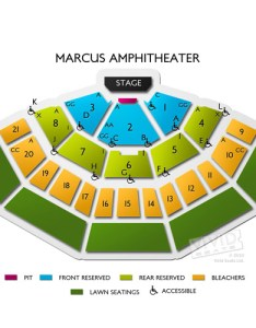 American family insurance amphitheater seating chart also guide for summerfest rh vividseats
