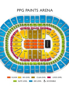 Ppg paints arena seating chart also concerts for live music in pittsburgh rh vividseats