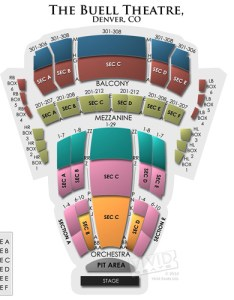 Buell theatre seating chart also  guide for live shows at the denver center rh vividseats
