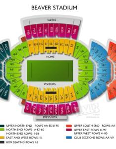 Penn state stadium seating chart rows homeschoolingforfree org