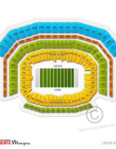 Levi   stadium seating chart also concerts showcase major acts vivid seats rh vividseats