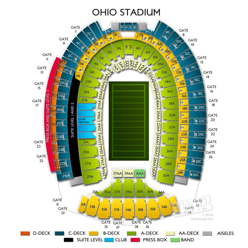 Jeep Cherokee 3Rd Row >> ohio state stadium seating chart with seat numbers | Brokeasshome.com