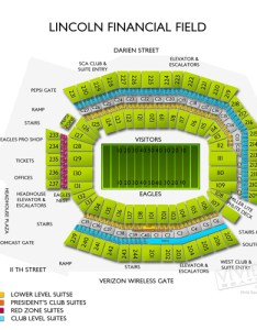 Lincoln financial field level seating view also concerts chart and event schedule rh vividseats