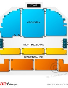 Brooks atkinson theatre seating chart also guide for waitress and other rh vividseats