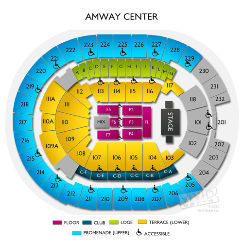 amway arena seats Brokeasshomecom