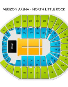 Verizon arena north little rock tickets schedule seating chart   credit to https ticketmaster venue also elcho table rh elchoroukhost