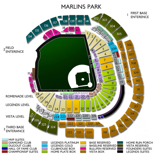 Marlins Park Virtual Seating Chart Arenda Stroy