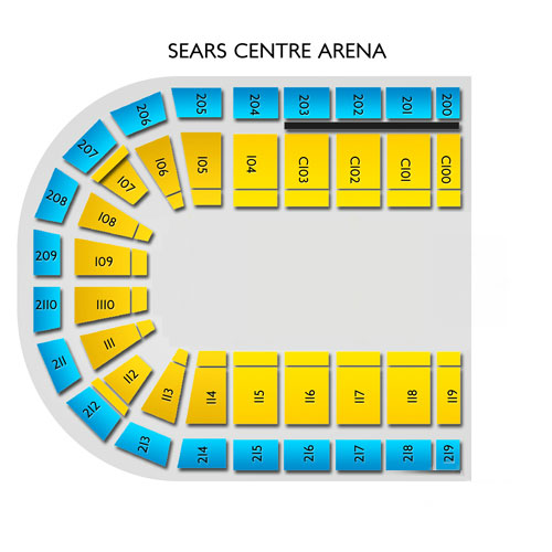 Sears Center Arena Hoffman Estates Il Seating Chart Stageseating