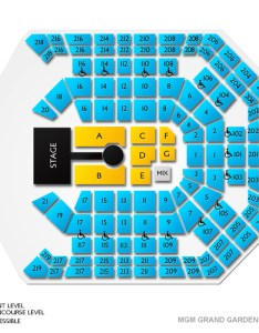 Mgm grand garden arena seating chart also guide for las vegas events vivid seats rh vividseats