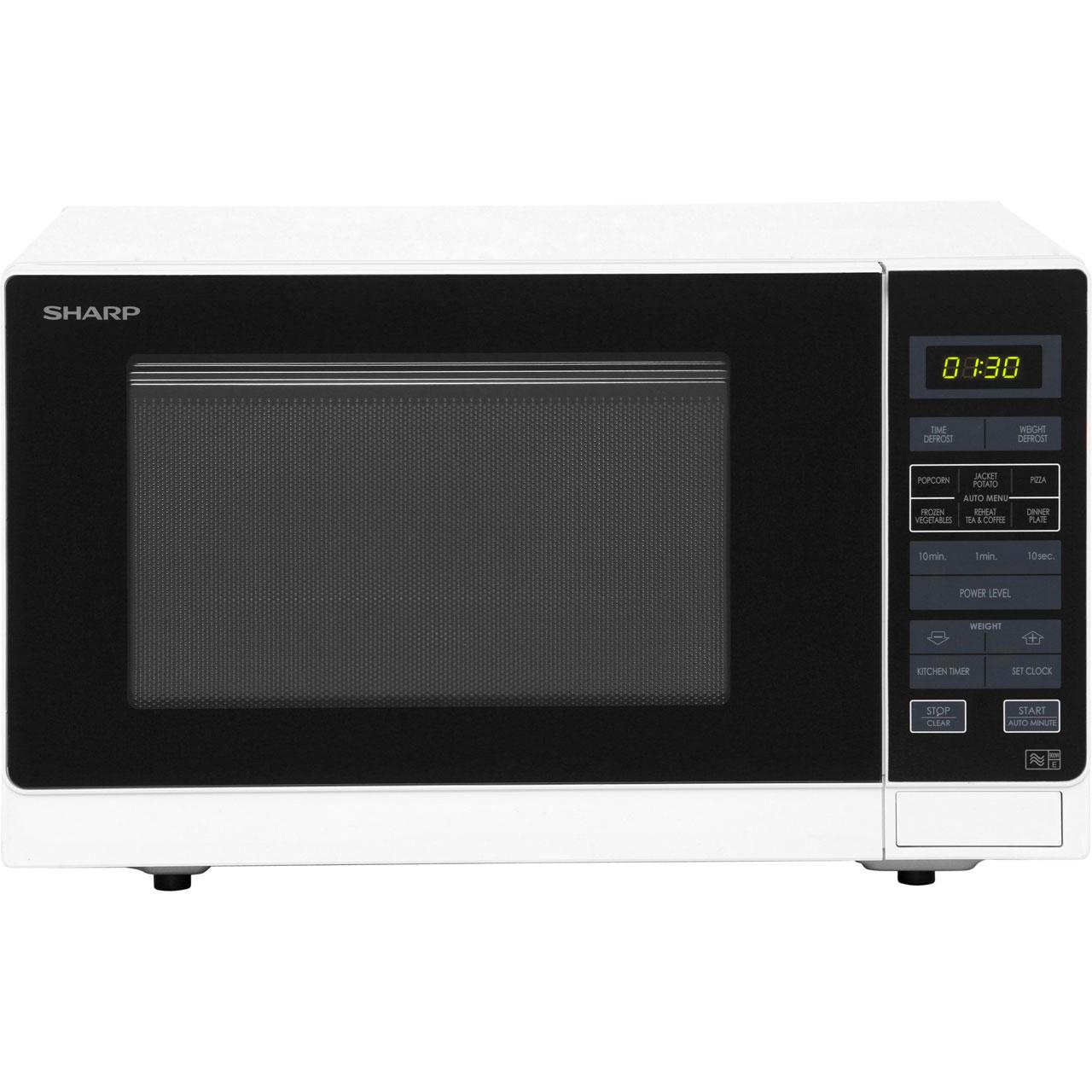 sharp r372wm white 900watt 25litre microwave oven