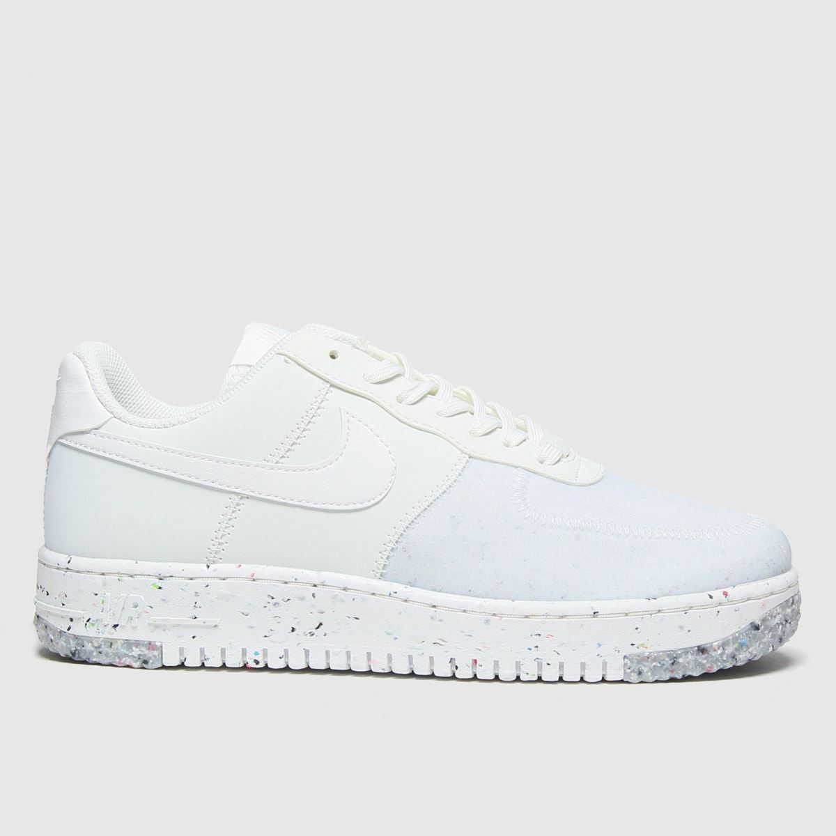 Womens White & Pl Blue Nike Air Force 1 Crater Trainers