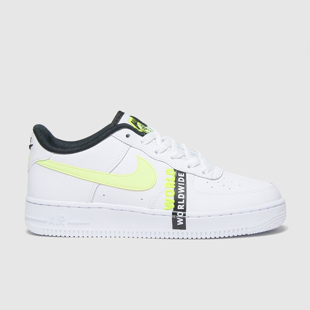 Kids Unisex white & green nike air force 1 lv8 1 trainers