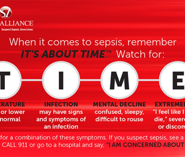 Patients Are Diagnosed With Sepsis When They Develop A Set Of Signs And Symptoms Related To Sepsis Sepsis Is Not Diagnosed Based On An Infection Itself