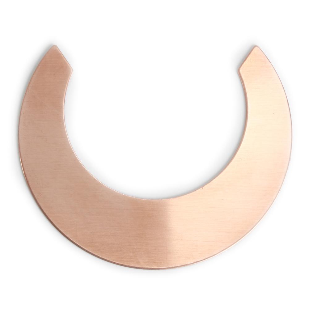 copper straight edge crescent