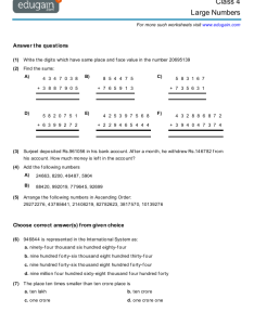 Contents large numbers also class math worksheets and problems edugain india rh ingain