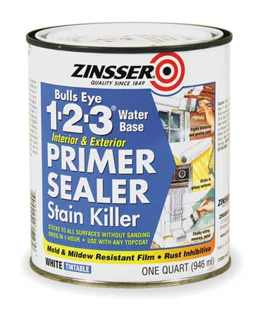 ZINSSER - Stain Blocking Primer/Sealer, White, 1 qt.