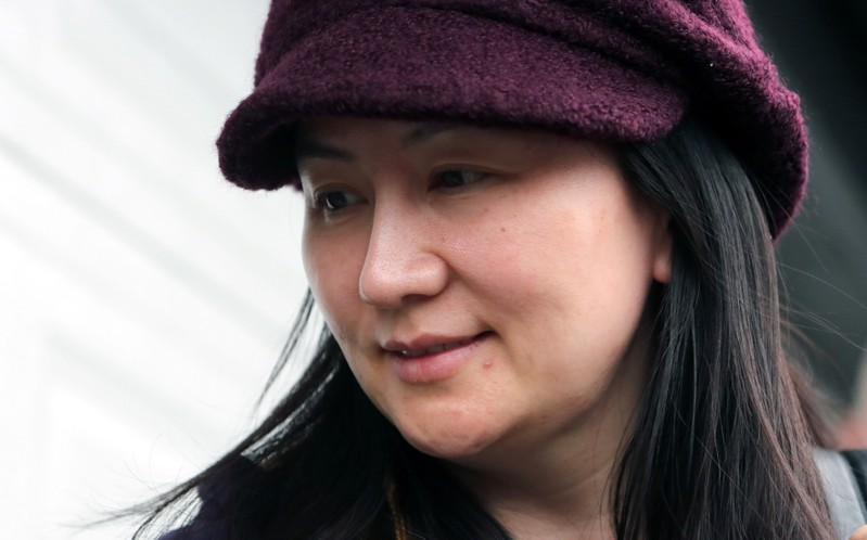 FILE PHOTO: Huawei Technologies Co Chief Financial Officer Meng Wanzhou arrives back at home after her court appearance in Vancouver