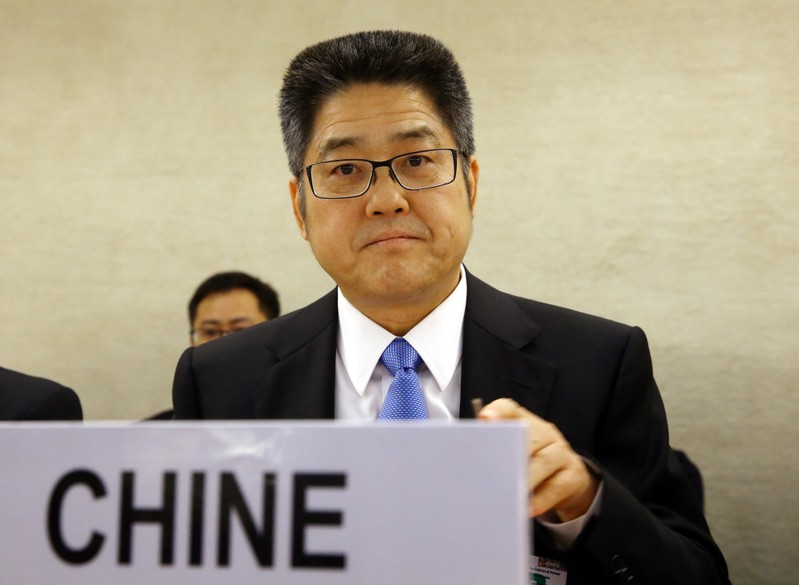China Vice Minister of Foreign Affairs Le attends the Universal Periodic Review at the United Nations in Geneva