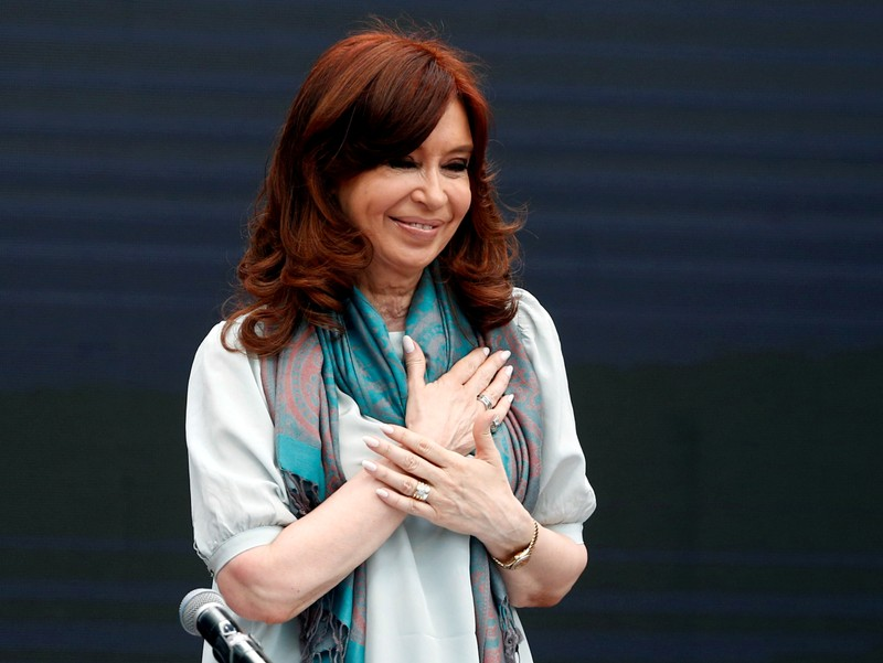 FILE PHOTO: Former Argentine President Cristina Fernandez de Kirchner attends a meeting of the World Forum of Critical Thought, in Buenos Aires