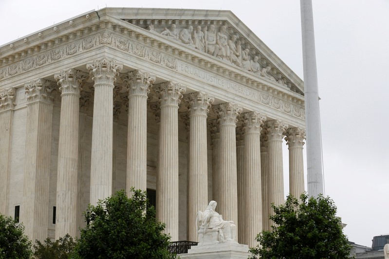 FILE PHOTO: The Supreme Court stands before decisions are released for the term in Washington