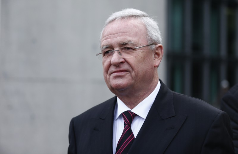 Former Volkswagen CEO Winterkorn leaves after testifying to a parliamentary committee on the carmaker's emissions scandal in Berlin